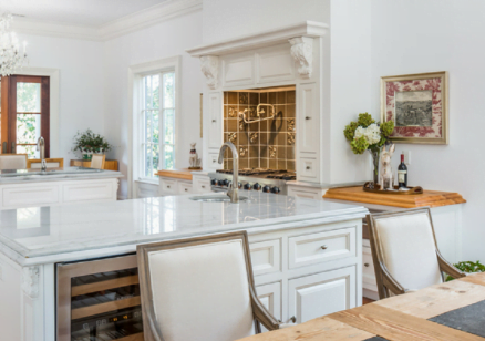 Kitchen and dining area in a luxury Kiawah home