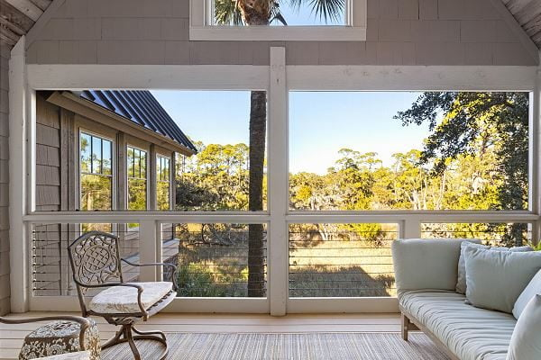 porch with marsh view