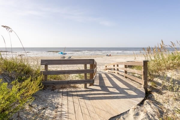 Kiawah Island Beach Access in Summer