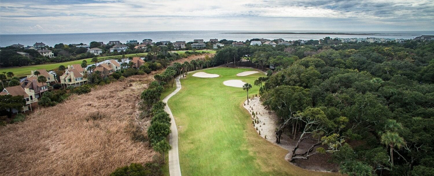 seabrook island aerial photo of golf course