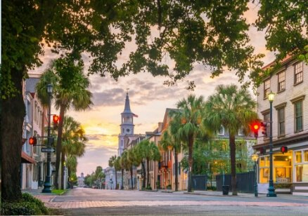 Downtown Charleston Sunset