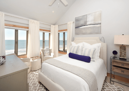 Bedroom at featured rental on Kiawah Island