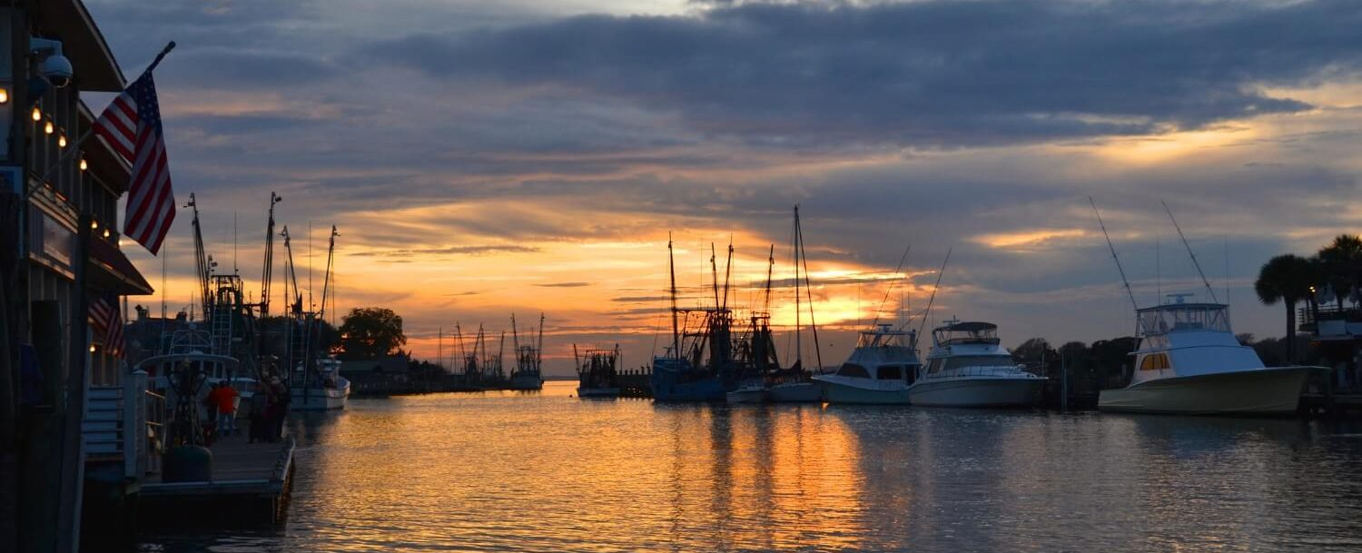 Shem Creek at sunset