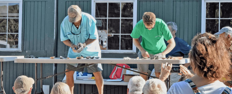 oyster shucking festival deep water vinyard